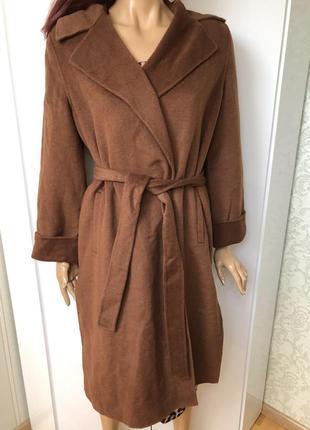 Крутое шерстяное пальто zara