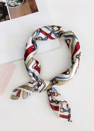 Платок платочек косынка бант лента для волос на сумку топ-качество в цепи и ремни