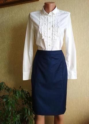Люксовая шерстяная юбка карандаш hugo boss,р.36-38