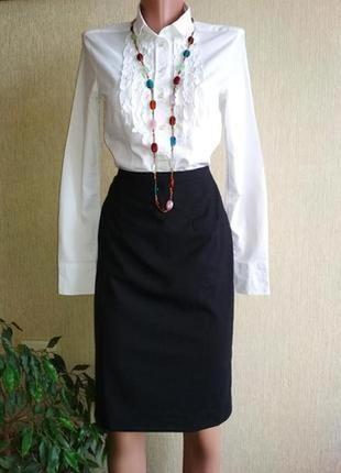 Стильная брендовая шерстяная юбка карандаш,р.36
