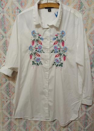 Рубашка блуза с вышивкой платье рубашка