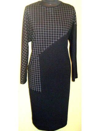 Трикотажное , теплое , стильное платье , ачоса , беларусь , р. 52 - 54