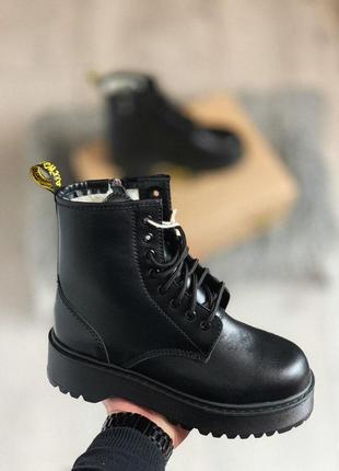 Dr.martens jadon зимние женские ботинки с мехом овчины /осень/зима/весна😍