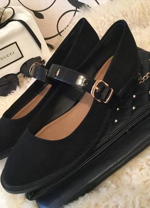 Стильные модные и мега крутые туфли лоферы с лаковой пряжкой от asos на 41,5/42р...❤️💋🌹
