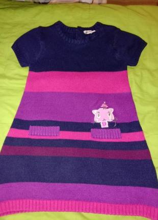 Платье свитер туника теплое платье