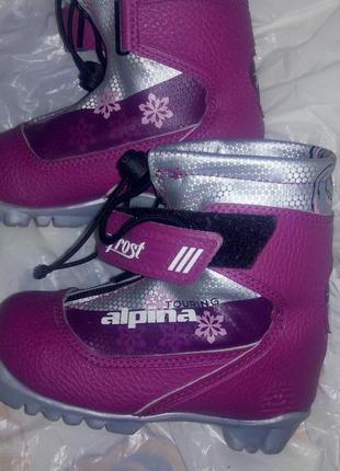 Ботинки для беговых лыж  на девочку  р 25 alpina