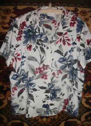 Блузка,рубашка в цветы
