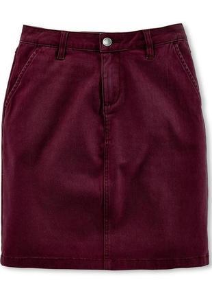 Супер роскошная котоновая юбка марсала на евро-р. 38/40...❤️💄💋