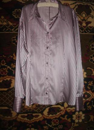Атласная блузка,рубашка в полоски