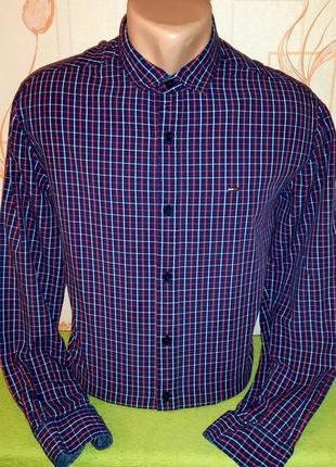 Крутая рубашка  tommy hilfiger denim ,made in bangladesh,  оригинал