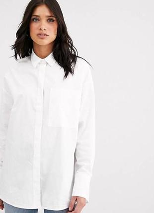 """Белая, стильная рубашка в стиле """"оверсайз""""🔥"""