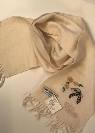 Теплий шерстяний шарф для дівчинки.італія.