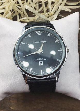 Наручные часы - в стиле emporio armani (чёрные)