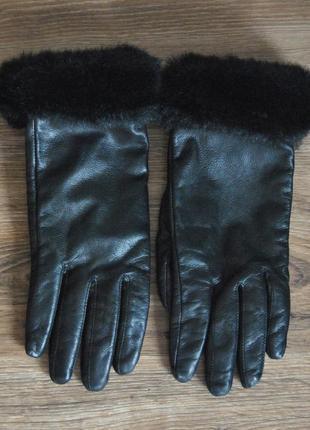 Кожаные перчатки george / шкіряні рукавиці