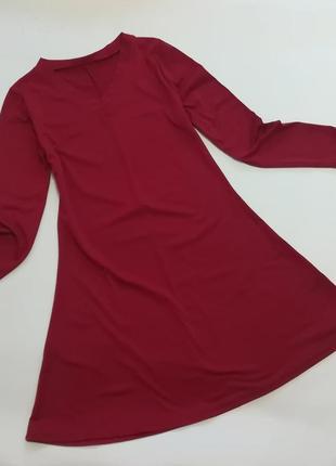 Классное свободное плвтье, а-образный покрой, модный цвет «красный велосипед»