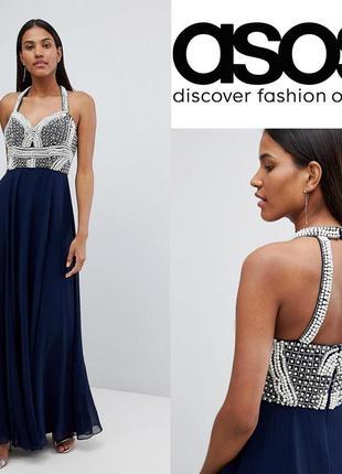 Завораживающее платье в пол от asos uk6/eu34, xs-s