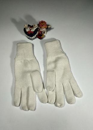 Белые перчатки размер m