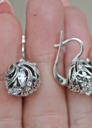 Серебряные серьги феличи