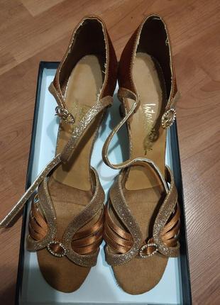 Туфли босоножки латина для бальных танцев 41 размер