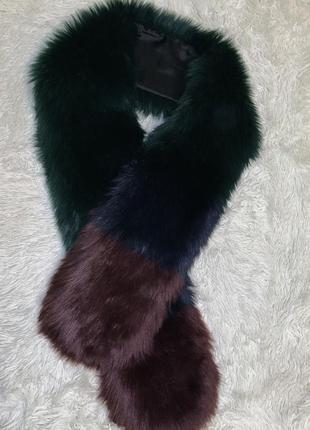 Меховый шарф известного французского бренда pimki!