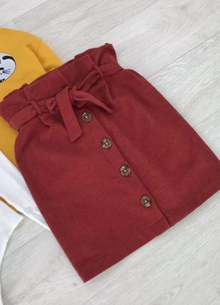 Актуальная трендовая юбка на пуговицах спереди с поясом от primark