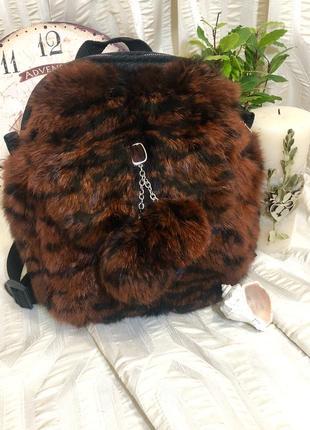 Рюкзак из натурального меха кролика