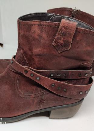 Кожаные деми ботинки 41 размер