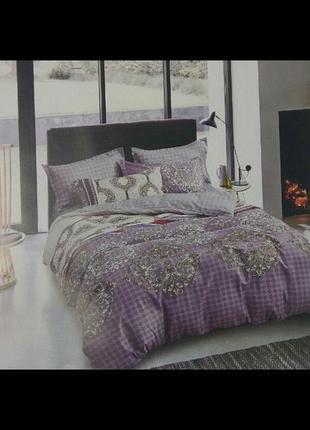 Комплект постельного белья полуторного размера, премиум 100 % хлопок, фланель. турция