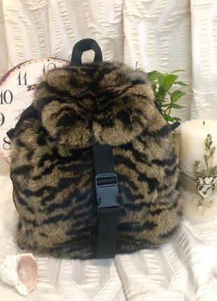 Рюкзак меховой женский натуральный кролик