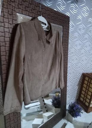 Susanne bommer замшевый дизайнерский блейзер-рубашка