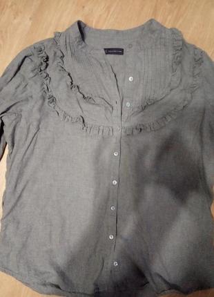 Теплая рубашка oversize
