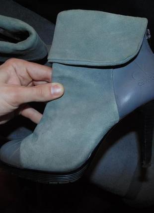 Туфли ботильоны ботинки замша и кожа calvin klien оригинал с серийным номером , размер 38