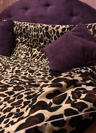 Одеяло леопардовое шерстяное