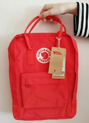 Рюкзак сумка канкен kanken fjallraven classic 16l красный