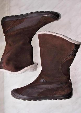 "Р.38.5 ""puma"" оригинал,натуральная замша еврозима, ботинки/сапоги стелька 25.3 см"