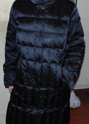 Пальто зимнее пуховик натуральный пух be made in italy оригинал новый