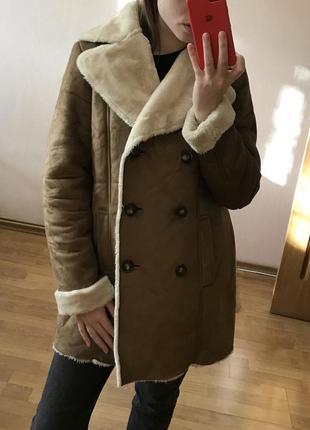 Дубленка пальто new look h&m