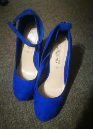 Туфли женские, замшевые