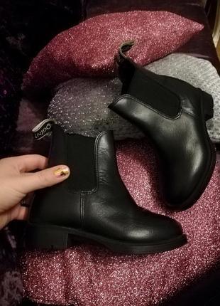 Ботинки детские челси кожаные ботинки