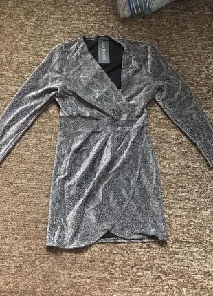 Продам платье на запах люрекс