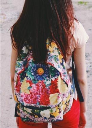 Рюкзак ручная работа цветастый