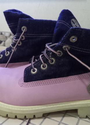 Кожанные ботинки timberland 39р
