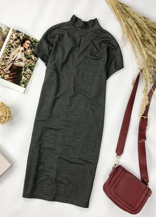 Трикотажное платье свободного кроя зауженное к низу  dr1950046  pieces