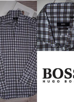 Hugo boss рубашка в клетку р 15.5/39 сток оригинал.