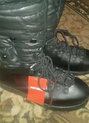 Нові литі резинові ботинки сапоги на слякоть 38р.