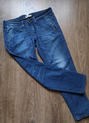 Стильные фирменные укороченные джинсы скинни размер 28