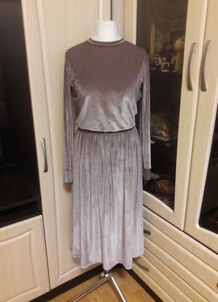 Шикарное новогоднее нарядное праздничное платье