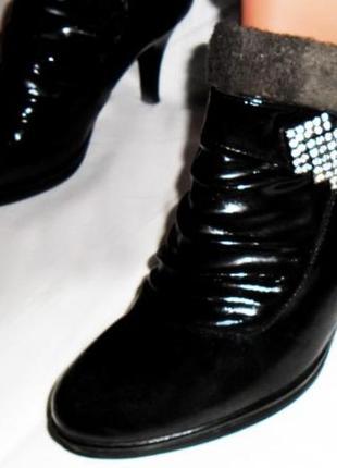 Черные, женские ботинки, ботильоны, полусапожки новые р. 37