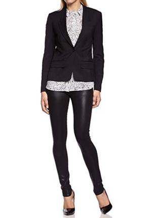 Брендовый черный пиджак жакет блейзер с карманами selected femme этикетка