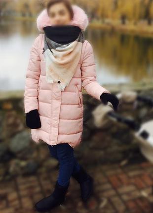 Зимнее пальто ,холлофайбер